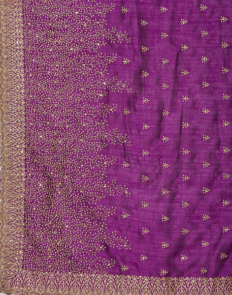 Purple Art Tussar Saree