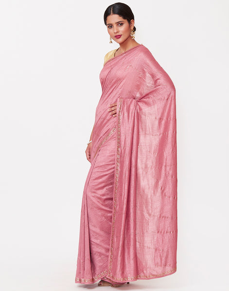 Pink Art Tissue Saree