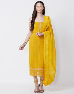 Yellow Cotton Suit Set