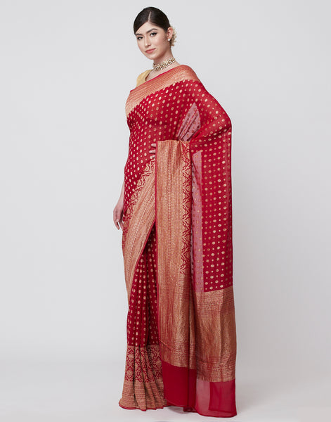 Plain Banarasi Saree