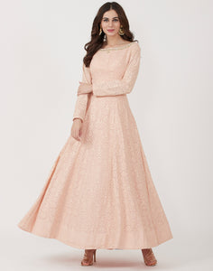 Peach Georgette Dress