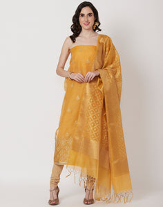 Mustard Cotton Suit Set