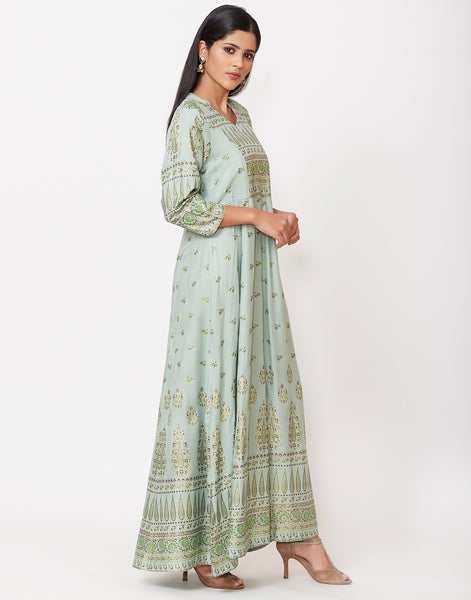 Green Cotton Kurti