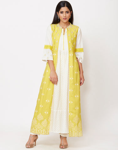 Lemon Cotton Salwar Kameez