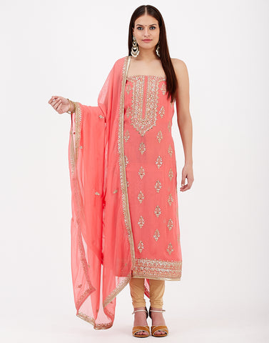 Pink Georgette Suit Set
