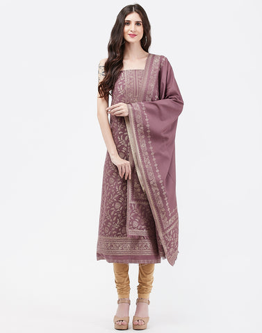 Lavender Art Handloom Suit Set