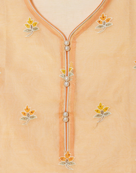 Peach Kota Cotton Suit Set