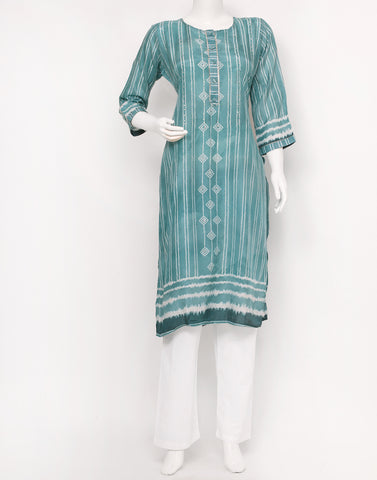 Sea Green Cotton Kurti