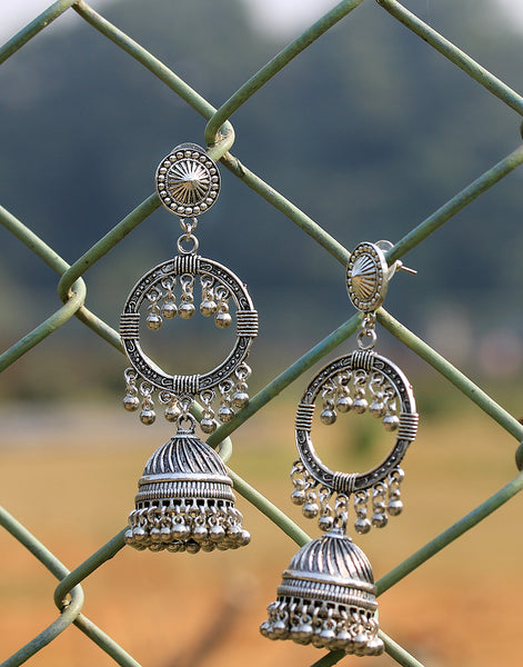 Silver Oxidized Earring