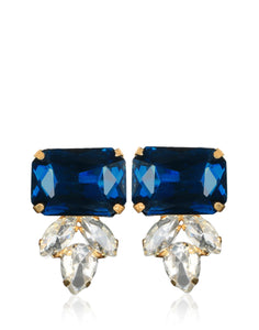 Meena Bazaar: American & Blue Saphire Stone Drop Earrings
