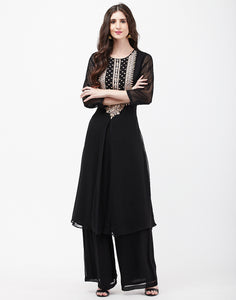 Black Georgette Kurti with Palazzo