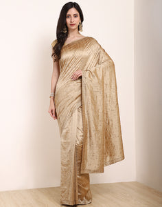 Chikoo Art Tussar Saree