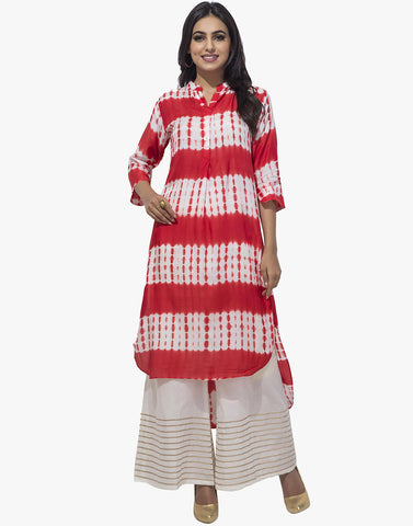 Tie and Dye Cotton Kurti By Meena Bazaar