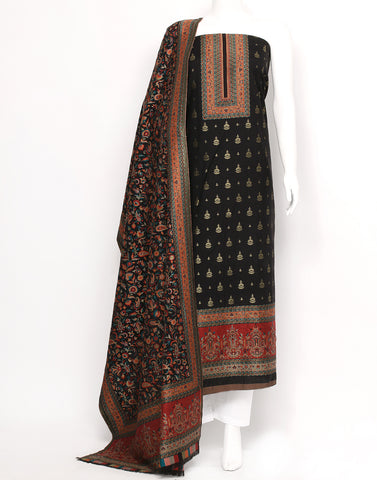 Black Art Handloom Suit Set