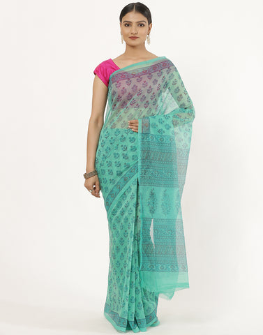 Cotton Printed Supernet Saree