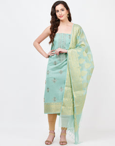 Dusty Green Chanderi Suit Set