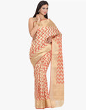 Zari Woven Cotton Tissue Saree By Meena Bazaar