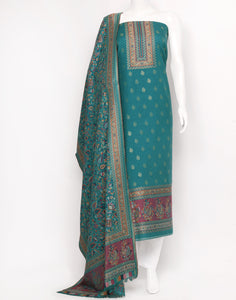 Green Art Handloom Suit Set