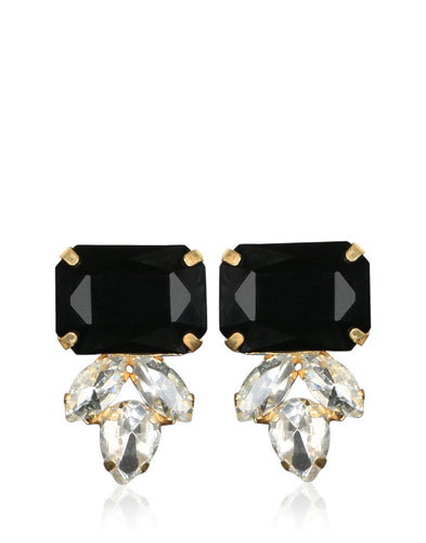 Meena Bazaar: American & Onyx Stone Drop Earrings