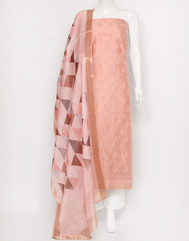 Light Pink Cotton Chanderi Suit Set