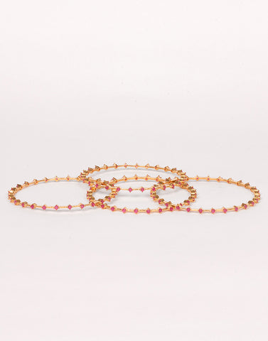 Gold-Plated Bangle Set