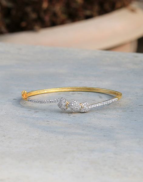 Diamond Studded Golden Tone Bracelet
