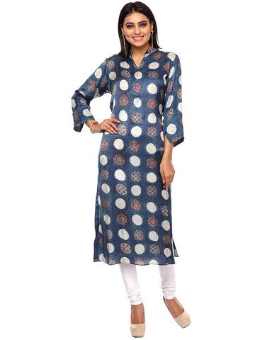 Shibhori Printed Cotton Kurti By Meena Bazaar
