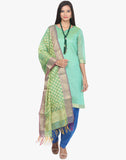 Unstitched Cotton Chanderi Woven Suit By Meena Bazaar