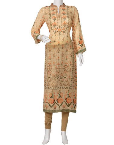 Peach Cotton Kurti