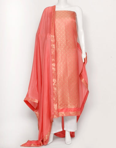 Pink Cotton Chanderi Suit Set