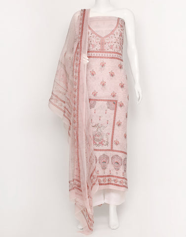 Light Pink Cotton Suit Piece