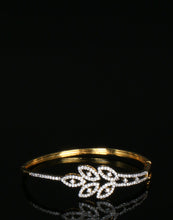 Meena Bazaar :Leaf Drop Diamond Golden Tone Bracelet