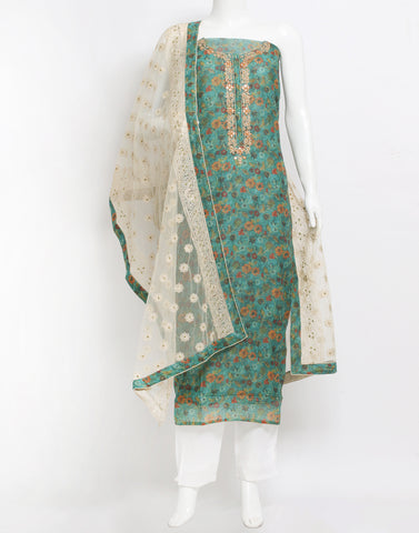 Cotton Chanderi Suit Set