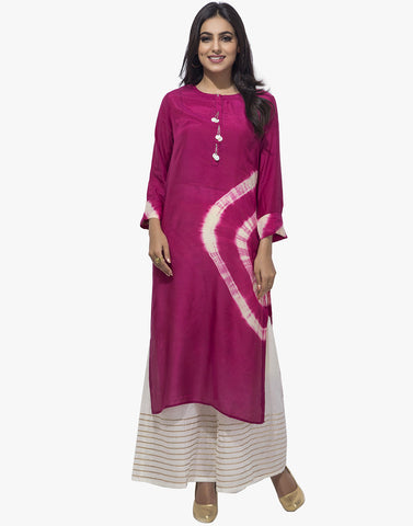 Tie And Dye Printed Cotton Kurti By Meena Bazaar