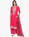 Unstitched Geogette Suit With Gotta Embroidery By Meena Bazaar