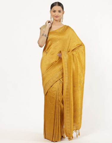 Art Handloom Woven Saree With Sworaski Work