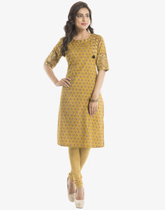 Floral Printed Cotton Kurti  By Meena Bazaar