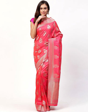 Banarasi Silk Saree With Stone Work