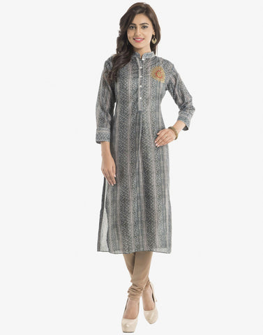 Abstract Printed Cotton Kurti  By Meena Bazaar