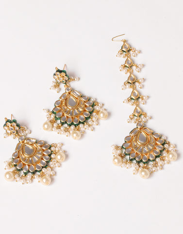 Gold-Plated Earrings and Headwear