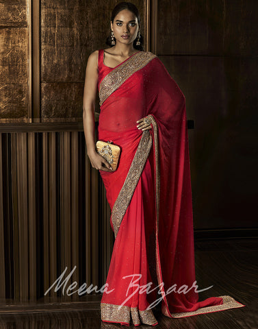Embellished Pure Georgette Saree