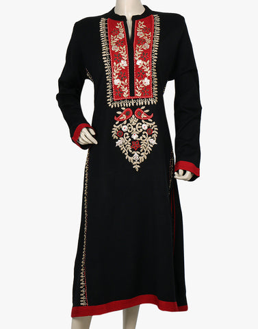 Embroidered Woolen Kurti By Meena Bazaar