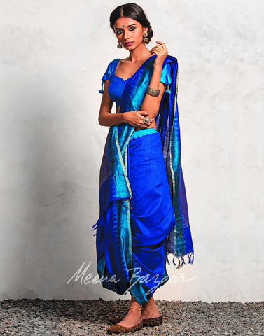 Plain Pure Handloom Silk Saree