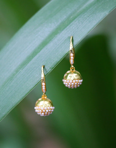Meena Bazaar: Pearl Drop Earrings