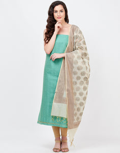 Sea Green Chanderi Suit Set