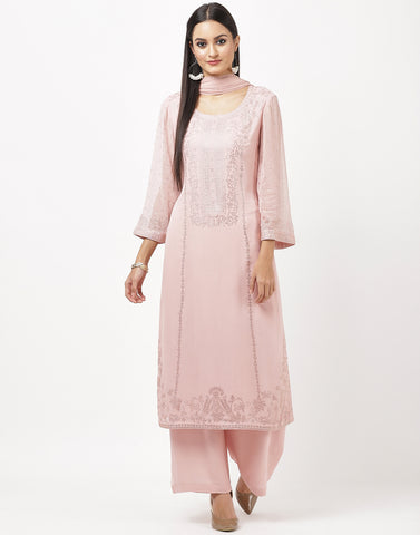 Light Pink Georgette Salwar Kameez