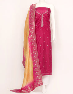 Rani Cotton Chanderi Suit Set
