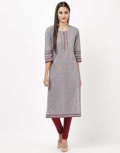 Dusty Green Cotton Kurti