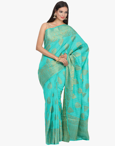 Zari Woven Handloom Silk Saree By Meena Bazaar