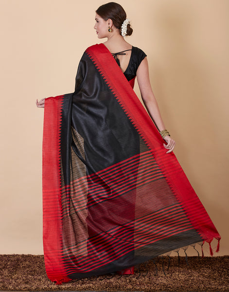 Black Art Handloom Saree
